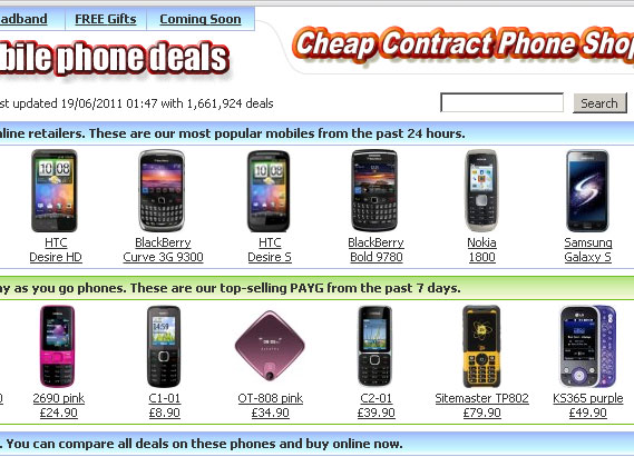 Cheap Contract Phone Shop