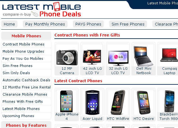 Latest Mobile Phone Deals